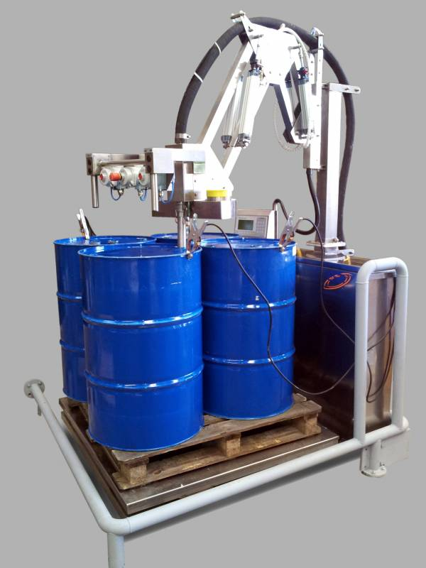compact drum filling machine for atex zone. Black Bedroom Furniture Sets. Home Design Ideas
