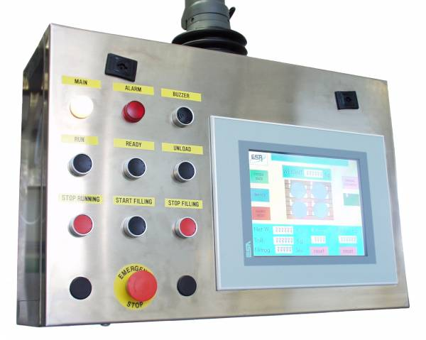 drum filling machine continuos touch screen panel